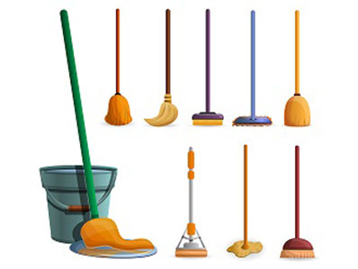 Safety in the Workplace: Color Coding Brooms and Mops