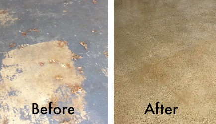 Before and After concrete polashing
