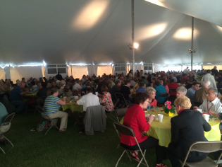 Valor visited 2014 Impact Conference, lunch in gathering tent