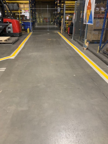 After Warehouse Striping