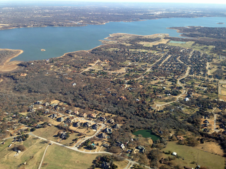 Aerial view of Southlake, Texas