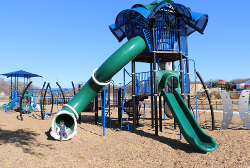 Boys Ranch Park playground in Bedford, Texas